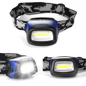 USB-Recharge-Sensor-Headlight-Waterproof-LED-Head-Lamp-Hiking-Flashlight