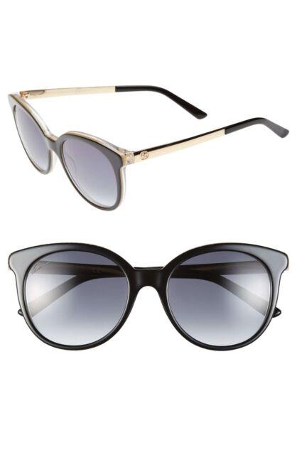 d5b0f8935b2d4 GUCCI 3674S 53mm Black Retro Sunglasses 100% Authentic 0394 Made in Italy