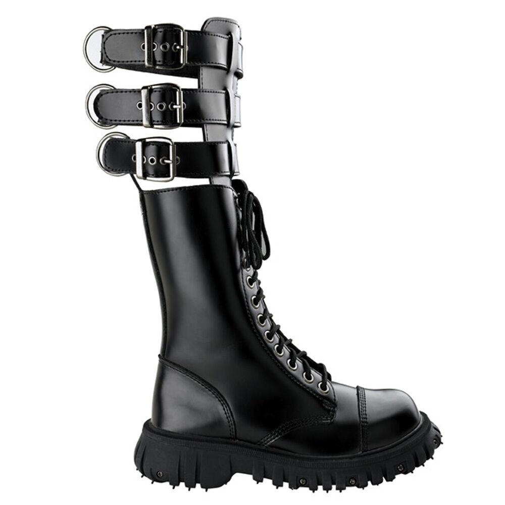 T.U.K. Mad Max Fold Down Buckle Boot Heavy Boot Mens Größe UK6/EU40 A7858
