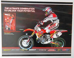 Vintage Poster 2001 Mike LaRocco Poster Honda CR Amsoil Supercross Motocross