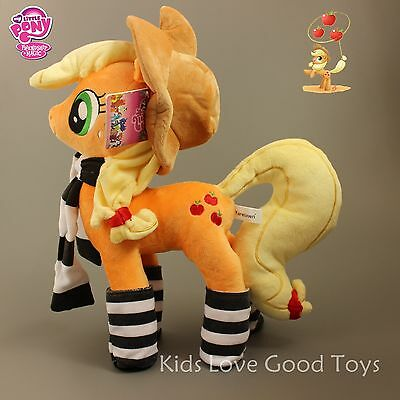 Rare My Little Pony AppleJack Figure with Socks Soft Plush Doll Toy 35cm 13.8''