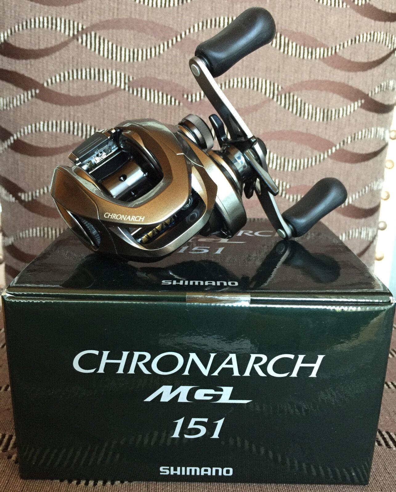 Shimano Chronarch MGL 151 Linkshand Baitcastrolle