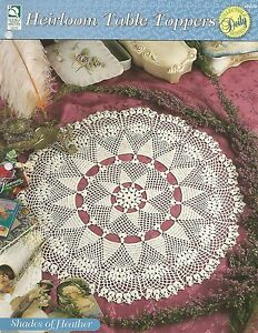 Heirloom Table Toppers crochet pattern leaflet Sunshine Flowers Tablecloth