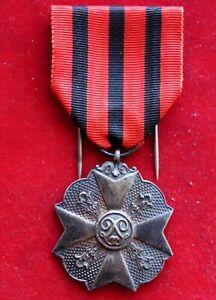 K18) Belgien Orden Silberne Medaille der Zivil Dekoration