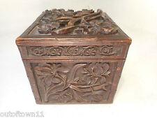 Vintage Black Forest Tea Caddy  Box    ref 2878