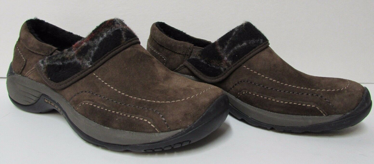 Merrell Size 7.5 Brown Pelle Slip on Clogs  New Donna Shoes