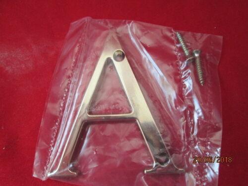"""CAST /""""Bright Gold/"""" finition métal porte lettre /""""A/"""" Neuf dans sa boîte environ 7.62 cm 3 in"""