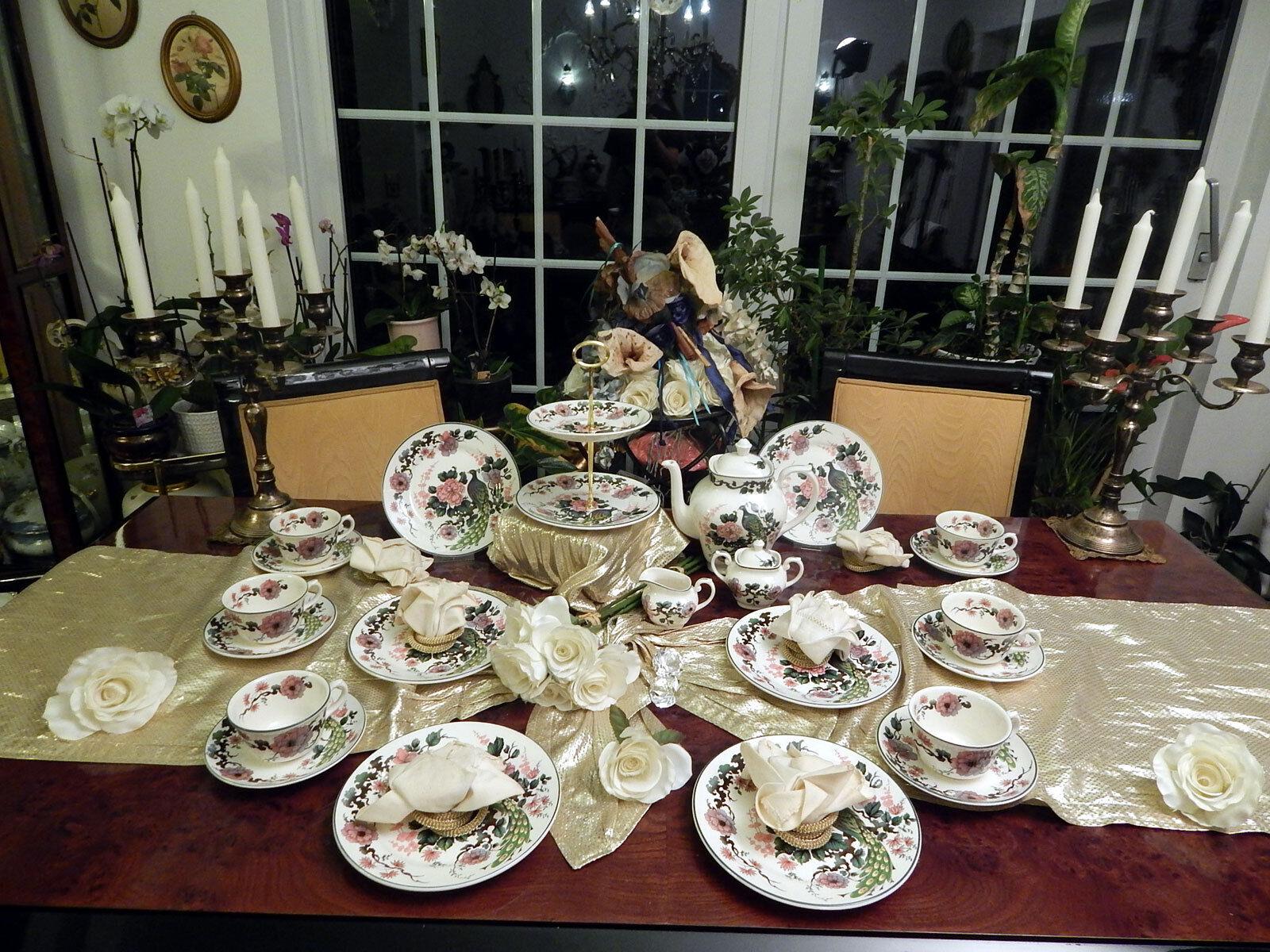 Élégant service à thé avec etagere MYOTT MEAKIN Exotic Garden