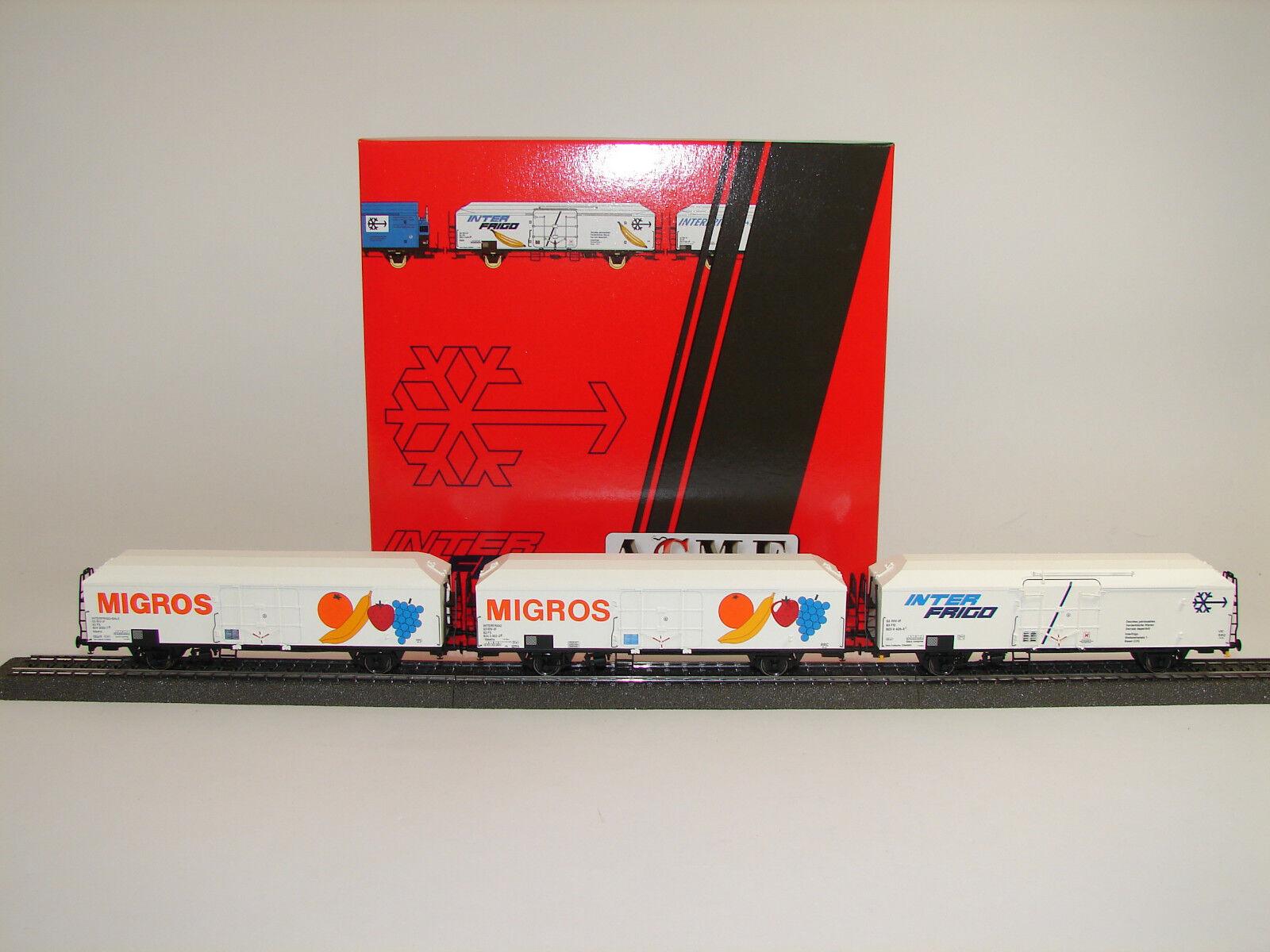 Acme h0 45072-set con 3 Isotherm-vagones Bayerische mercancía nueva