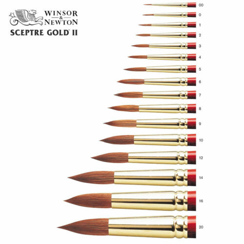 Winsor /& Newton Artists Sceptre Gold Watercolour Sable Mix Paint Brush 101 Round