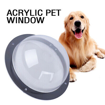 Serenable Acrylic Pet Cat Dog Window Dome Insert Fence Clear Outside Landscape Viewer