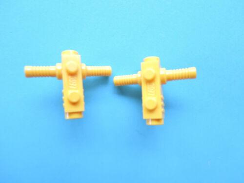 Lego 2 x Space Halter Kanone Kettensäge 2516 gelb