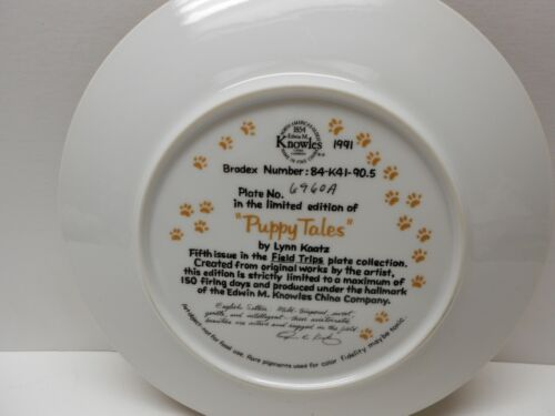 "NEW IN BOX ENGLISH SETTER COLLECTORS LIMITED EDITION PLATE /""PUPPY TALES/"" USA"