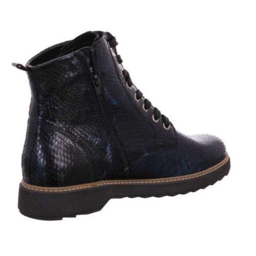 Waldläufer Stiefelette Kitomi Blau Leder Weite K Boot Stiefel 683801 187 206