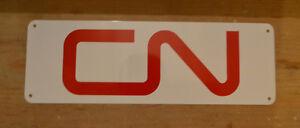 Canadian-National-Railway-Company-RAILROAD-SIGN-TRAIN-Locomotive-LOGO-Free-Ship