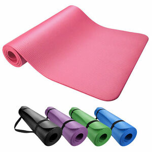 Yoga-amp-Exercise-Mat-Thick-Non-Slip-Shock-Absorbing-Pad-Workout-72-034-x24-034-x-10mm
