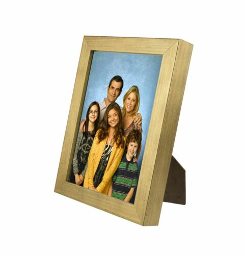 """Thick 30mm Border 20mm w// Acrylic Cover JSP Photo Frame 12/""""x10/"""" Gold Finish"""