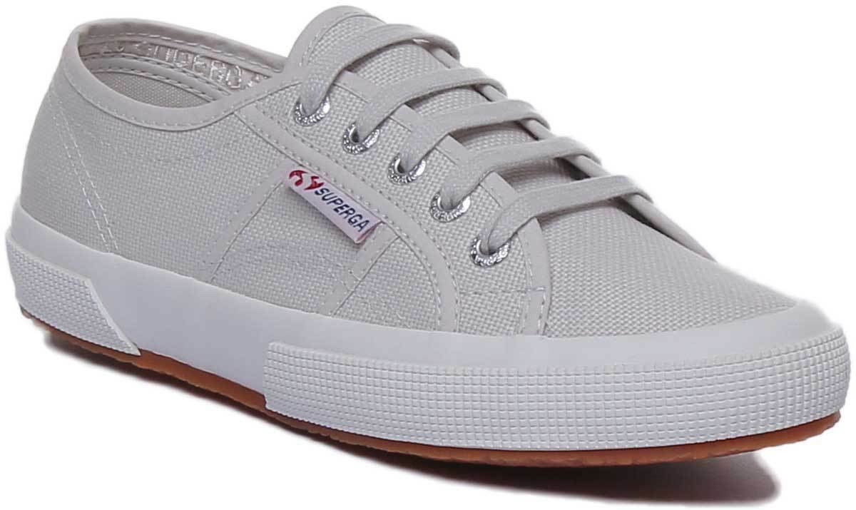 Superga 2750 Cotu Classic damen Soft Canvas Trainers In grau Größe UK 3 - 8