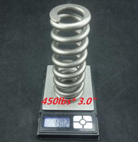 J/&L Titanium//Ti Coil Spring fit Fox,MRP,X-Fusion,ELKA Suspension Rear Shocks