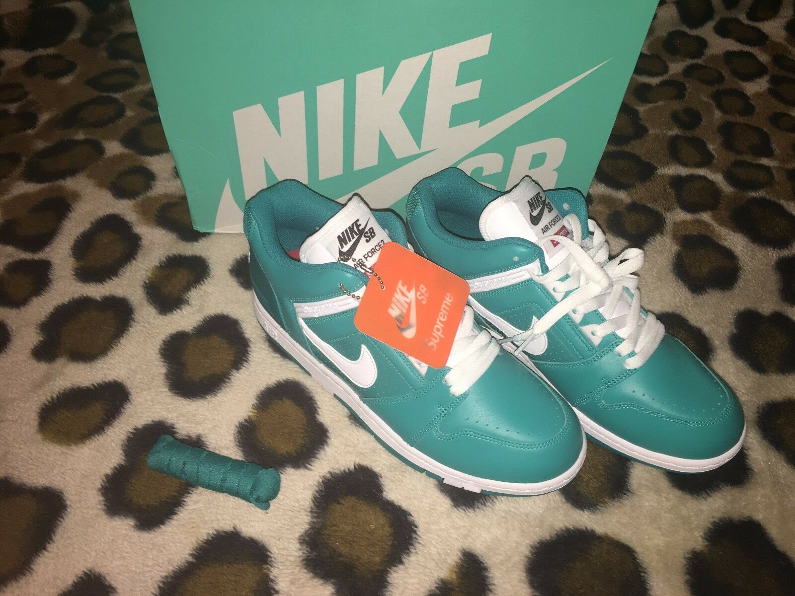 New SUPREME x NIKE SB AIR LOW FORCE II 2 AF2 LOW AIR Teal DS Hommes Taille 9 fdb5eb