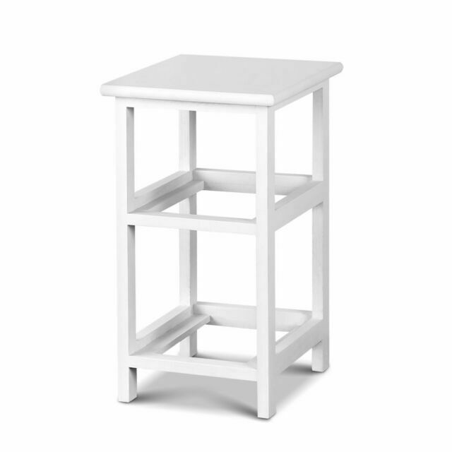 Ariss ST-CAB-1D-1B-WHX2 Bedside Table – White