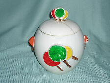MCCOY POTTERY LOLLIPOP COOKIE JAR, Cracked/Repaired lid