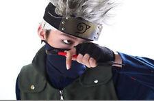 2pcs/Set Naruto Hatake Kakashi Cosplay Black Mask + Leaf Village Ninja Headband