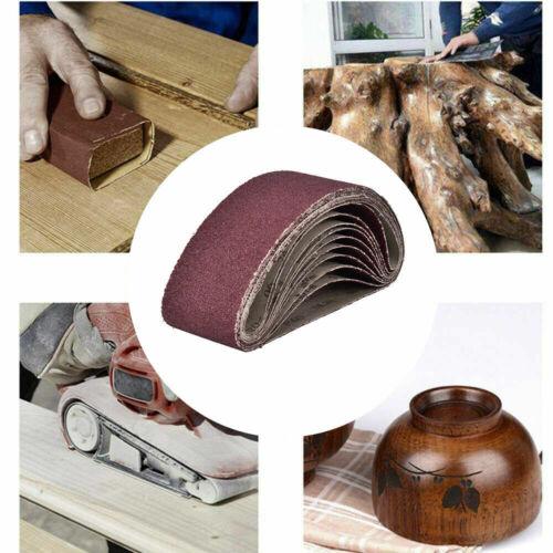 5//10//15pcs  533*30mm Sanding Belts 40-1000 Grits Aluminum Oxide Sander Sandpaper