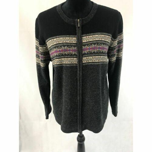 Vintage 1950s ROSANNA Ivory Beaded Lambswool Blend Sweater NWT Sz L