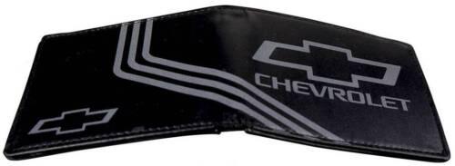 Men Wallet Bifold Chevrolet Silverado Malibu Cruze 3 Stripe Black Charcoal