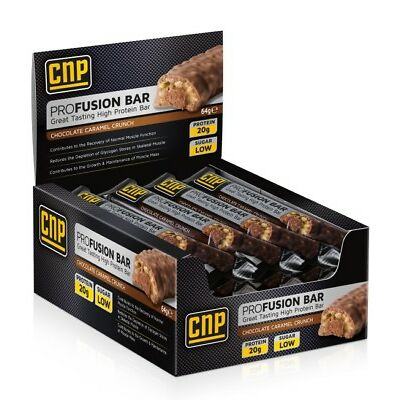 CNP Pro Fusion Protein Bars 12 High Protein Low Sugar Bar Free P&P Late Dated
