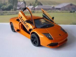 PERSONALISED-NAME-Orange-Lamborghini-Boy-Toy-Dad-Model-Car-Birthday-Present-Gift