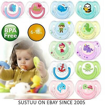 Baby Soother Pacifier Dummy Orthodontic BPA Free Silicone Elephant Shaped CB