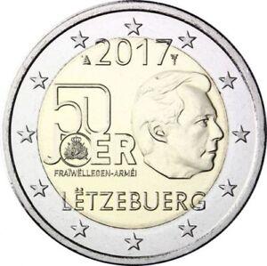 2-EURO-COMMEMORATIVA-LUSSEMBURGO-2017-SERVIZIO-MILITARE-OBBLIGATORIO-RARA-FDC