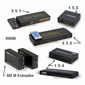 HDMI-Multi-function-1-4-2-0-Splitter-Switch-Matrix-Extender1x4-1X2-4x2-3x1-4x1