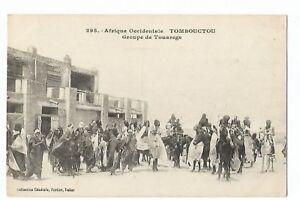 CPA-AFRIQUE-MALI-TOMBOUCTOU-UN-GROUPE-DE-TOUAREGS