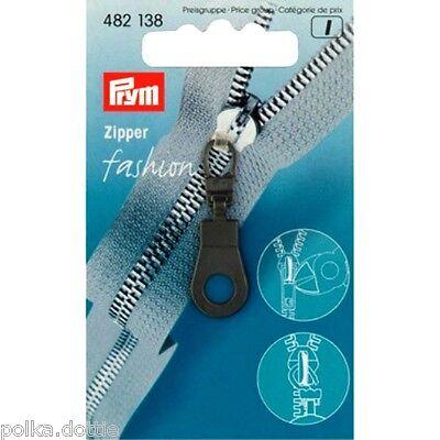 Prym Zipper Pull Replacement Zip Pull Black Eyelet Black Zip Puller with Eyelet