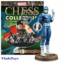 Eaglemoss Marvel Chess Collection Bullseye Chess Piece 28 Black Pawn W/mag