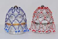 Set De Collares De Maya Rojo Y Azul Para Los Jimaguas O Ibeyis Ibeyi Ibeji