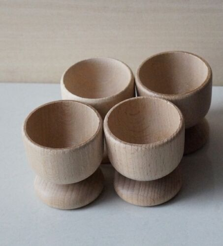 Wooden EGG CUPS Holders Crafts BEECHWOOD