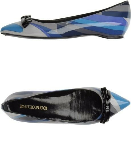 Emilio Pucci Marine collection Infinity flats size US 8, EU 381 2 NEW