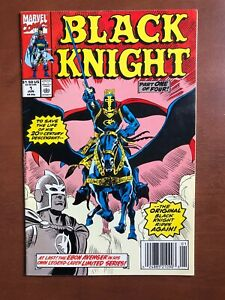Black-Knight-1-1990-8-0-VF-Marvel-Key-Issue-Comic-Book-Newsstand-Edition