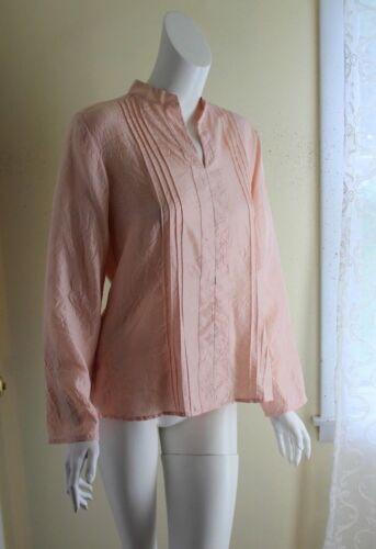 j.jill -Sz M Romantic Feminine Dusty Pink Silk Cri