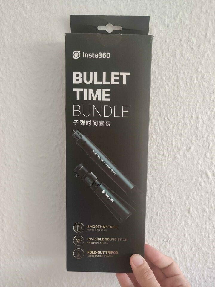 Bullet time tripod + Invisible selfie stick, insta360,