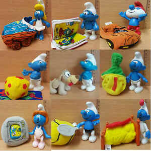 McDonalds-Happy-Meal-Toy-2002-Plastic-Smurfs-Character-Toys-Various