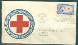 US-FDC-1016-RED-CROSS-Cancel-NEW-YORK-N-Y-NOV-21-1952-Addr