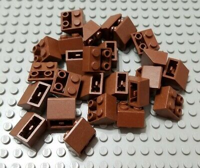 LEGO Lot of 12 Reddish Brown 2x2 Basic Building Brick Pieces