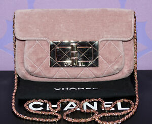 9c1778306e62 Image is loading CHANEL-2-55-REISSUE-Crossbody-Chain-Mademoiselle-Clutch-