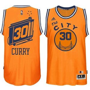 new product 45712 db1e7 Details about Adidas Stephen Curry Golden State Warriors Hardwood Classic  Swingman Jersey