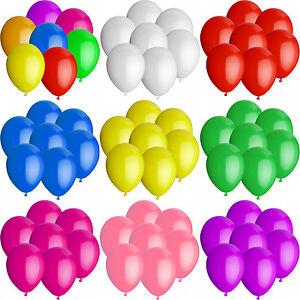 Luftballons-25-cm-Farbe-amp-Stueckzahl-frei-waehlbar-Ballons-Helium-Luftballon